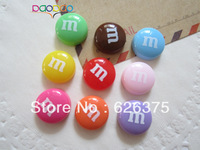 Mixed Color Wholesale Resin M beads, Resin Flat Back Cabochons for Scrapbooking, Phone Decoration DIY, Free Shipping