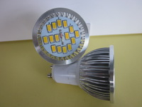 free shipping Gu10 5730 5630 15led spot light 6W AC85-265V with glass cover