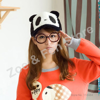 Wholesale 2013 Free Shipping Panda Style Cute Anime Hats Boy and Girl Adjustable Beanie Hat For Sale with 2 PCS plus Small Gift