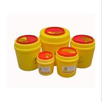 10pcs/lot Thickening 4l tool box medical sharps box yellow plastic medical garbage bucket push switch eco-friendly
