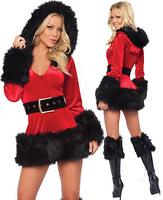 Fashion long-sleeve christmas clothes uniform costume cos women's
