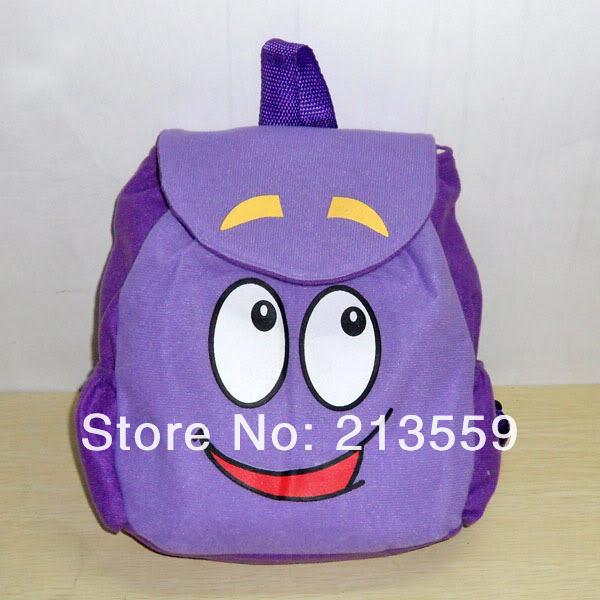 """Frete grátis EMS 100 / Lot Dora the Explorer Plush Backpack Pré Escola Criança Bag 10 """"(China (Mainland))"""