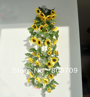 "10PCS/Lot    29"" Artificial Silk Sunflower Hanging Flower Vine Ivy Garland Wedding Home Decor"