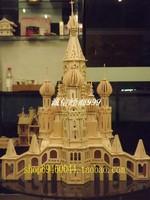 Oversized 3d  wooden model house model  3d puzzle house large size diy building