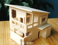 3d Wooden model puzzle diy wooden residence  3d jigsaw puzzle buildings