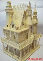 3d Wooden model house 3d diy puzzle child puzzle assembling toys