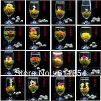wholesale premium16 kinds blooming tea beautiful delicate handmade blooming flower tea  freeshipping+secret gift