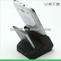 Free shipping High Quality USB dual charger Cradle charging Battery Charger and Docking station for Samsung Galaxy S3 SIII i9300