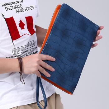 New Korean fashion leisure wild men clutch bag crocodile pattern briefcase business bag business Free shipping..