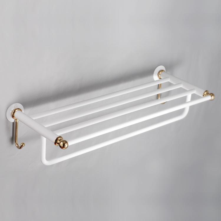 Towel rack copper double layer towel rack bath hardware bathroom towel rack(China (Mainland))