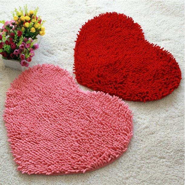 Fluffy bedroom rug font b carpet b font floor bath mat love heart font b doormat