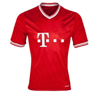 Free Shipping!!! Best Thailand Quality Home 13/14 RIBERY ROBBEN MULLER GOTZE Soccer Jersey Uniforms Jerseys , Embroidered logo