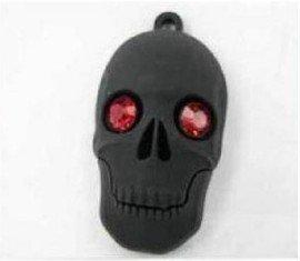 Back to School gift!!Fashion Creative Black Ruby Eyes Skeleton Head USB 2.0 Memory Stick Flash Drive 4GB 8GB16GB 32GB
