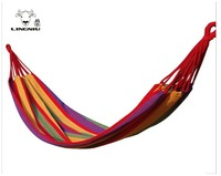 2013 new single striped canvas hammock thickened indoor swing camping leisure beach leisure