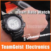 6/lot Digital Waterproof  Wireless Heart Rate Watch & Chest strap Belt calories Monitor Sport watch LED backlight Free Shipping