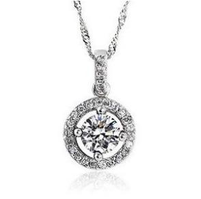 Free shipping 2013 new arrival all shiny star zircon 925 sterling silver ladies pendant necklaces 45cm wholesale jewelry(China (Mainland))