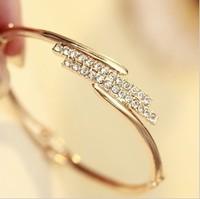 Czech manufacturer of double bracelet rhinestone bracelet female openings