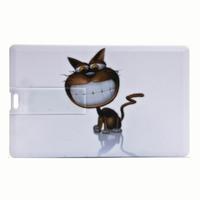 Free shipping Fitu 4g cartoon card usb flash drive animal personalized pattern card usb flash drive  wholesale