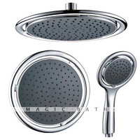 Ska Set - Rain showerhead & hand shower ABS with Slica nozzles - Chrome Kitchen & Bath store Free shipping