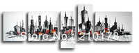 Free Shipping!!5pcs MODERN ABSTRACT HUGE WALL ART OIL PAINTING ON CANVAS XD5-008