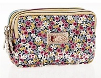 flowers cotton women change purse