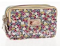 flowers cotton women change purse