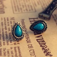 Retro Blue Turquoise  Stud Earrings/Fashon Accessories for Woman