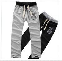 2013 New Men Casual Sports Pants/ loose male trousers/Loungewear and nightwear,Black&Gray