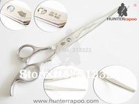 Hot sales:Hunterrapoo Brand 8.5 inch Pet's Grooming Shear ,Pet Hair Razor edge cutting Scissors(warping clipper) with a bag