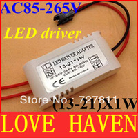 30pcs/lot,(13-21X1W LED driver,13-21W 300mA led outside Transformers for celling down lamp, LED Lighting driver,free shipping