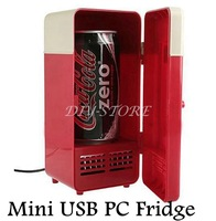 High Quality Mini USB PC Fridge Refrigerator Beverage Drink Can Cooler/Warmer New