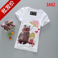 Women's t-shirt short-sleeve Iotion sisters equipment summer slim women's clothes