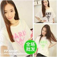 Mushroom honey sisters equipment summer women's short-sleeve t-shirt clothing clothes