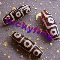 2015 new AA 38x15mm 8pcs/lot Prayer Mala Tibetan Mystical Agate Dzi 9 Eyes Beads wholesale Free Shipping