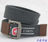 Casual canvas belt all-match print canvas waist of trousers belt strap