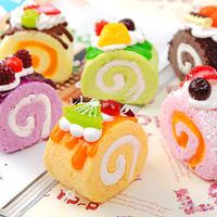 Super hokkaido egg rolls cake mobile phone chain artificial bread gift