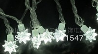Free Shipping! High quality waterproof lamp series Christmas decoration  Pure white light stars,230V,8W,10m/100pcs