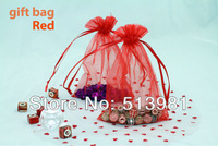 Free Shipping Wholesale 100pcs/lot 10x15cm red Drawable Organza Jewelry Packaging Wedding Gift Bags&Pouches