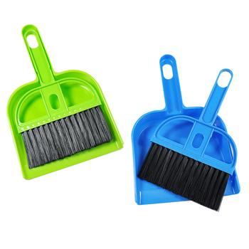 Mini desktop belt dustpan small besmirchers set cleaning brush b913