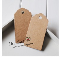 SS006 Antique Kraft Paper Tags with Lovely Swirl Edges for Wedding Decoration/DIY Card Making/Scrapbooking