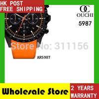 2014 Gift Free Shipping fashion casual top luxury brand men watch chronograph quartz  mens sports watches AR5987 gift box