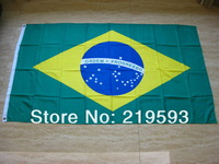 grommet 150 x 90 cm Brazil flag with  free shipping by airmail