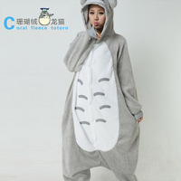 Promotion!!! Free shipping Totoro Kigurumi Pajamas Pyjamas suits Cosplay Costume Garment fleece stitch cartoon animal sleepcoat1