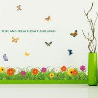 Eco-friendly wall stickers tv wall stickers child cartoon base board wall stickers AY757
