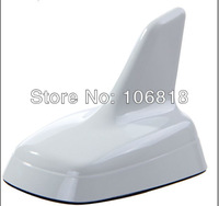 Euro Style Custom Decorative Mirror Polish White Roof Top Shark Fin Antenna Aerial 3M Stick On Trimming Trim For A4 A6 Q3 Q5 Q7