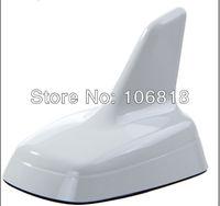 Euro Style Custom Decorative Mirror Polish White Roof Top Shark Fin Antenna Aerial 3M Stick On Trimming Trim For A4 A6 Q3 Q5 Q7