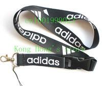 Sports black Logo Lanyard/ MP3/4 cell phone/ keychains /Neck Strap Lanyard  Free shipping Wholesale 20pcs