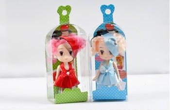 Free shipping Fashion mobile phone pendant cartoon doll wedding dress doll gift m19