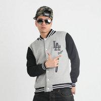 Classic fashion hiphop la lovers hiphop baseball uniform cardigan sweatshirt