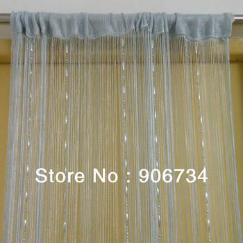Cinza cor de alta qualidade faixa Bead cortina para porta / janela grátis frete